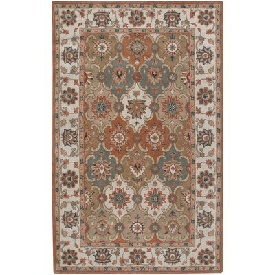 Canaria Hand-Tufted Rust/Beige Area Rug Rug Size: 2 x 3