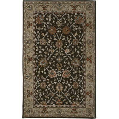 Libreville Hand-Tufted Brown/Beige Area Rug Rug Size: Round 8