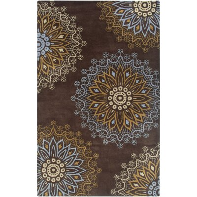 Luanda Hand-Tufted Brown Area Rug Rug Size: 5 x 8