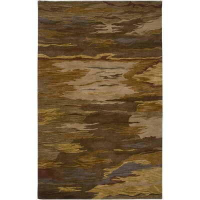 Malabo Hand-Tufted Brown Area Rug Rug Size: Rectangle 5 x 8