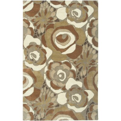 Narvik Hand-Tufted Brown Area Rug Rug Size: 2 x 3
