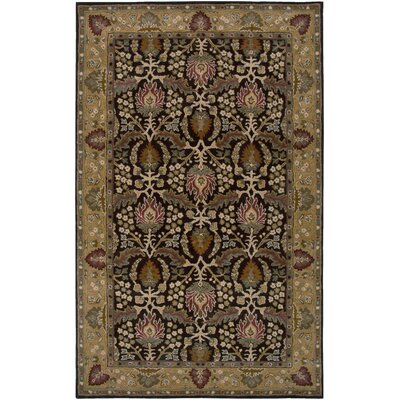 Necochea Hand-Tufted Brown Area Rug Rug Size: Round 8
