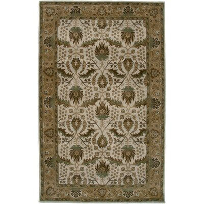 Paramaribo Hand-Tufted Ivory/Tan Area Rug Rug Size: Rectangle 9 x 12