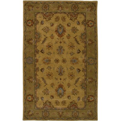 Philadelphia Hand-Tufted Gold/Brown Area Rug Rug Size: 9 x 12