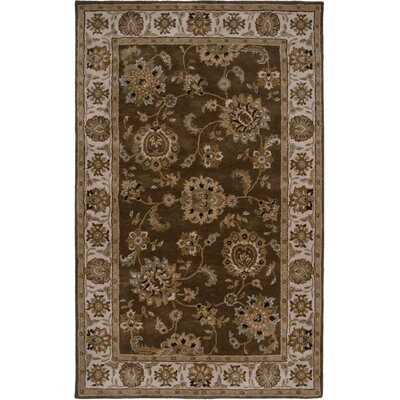 Everglades Hand-Tufted Brown/Ivory Area Rug Rug Size: 5 x 8