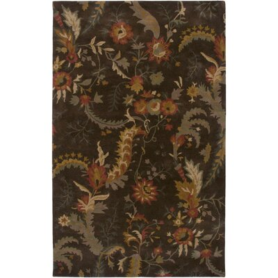 Maine Hand-Tufted Brown Area Rug Rug Size: Round 8