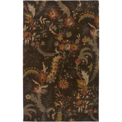 Maine Hand-Tufted Brown Area Rug Rug Size: 5 x 8