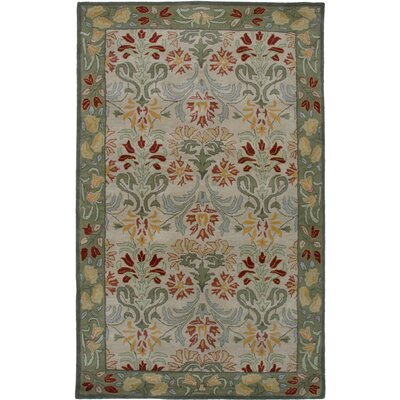 Janeiro Hand-Tufted Beige/Green Area Rug Rug Size: Rectangle 9 x 12