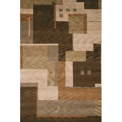 Savannah Hand-Knotted Brown Area Rug Rug Size: 9 x 12