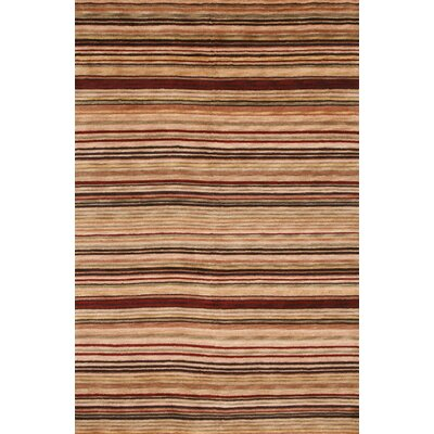 Sines Hand-Knotted Brown Area Rug Rug Size: 9 x 12