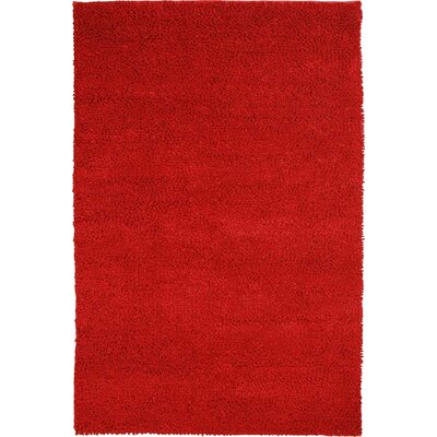 Trondheim Hand-Woven Red Area Rug Rug Size: 8' x 10'