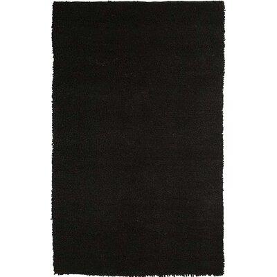 Vigo Hand-Woven Black Area Rug Rug Size: Rectangle 8 x 10