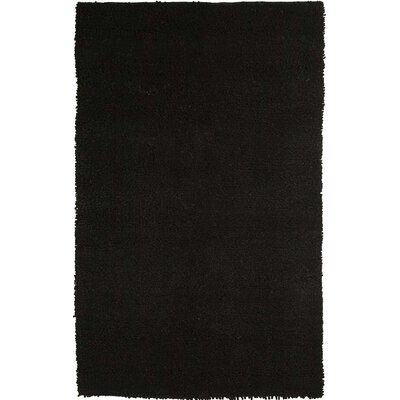 Vigo Hand-Woven Black Area Rug Rug Size: Runner 26 x 8