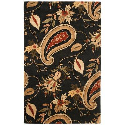Walvis Hand-Tufted Black Area Rug Rug Size: 5' x 8'