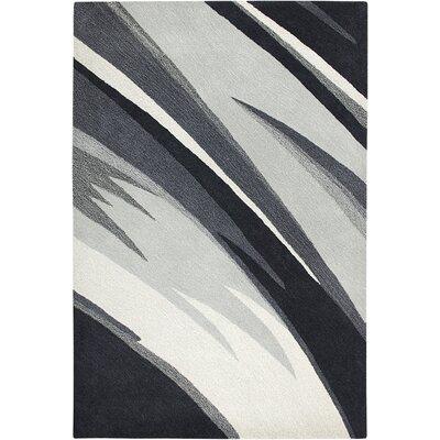 Budva Hand-Tufted Black/White Area Rug Rug Size: 5 x 8