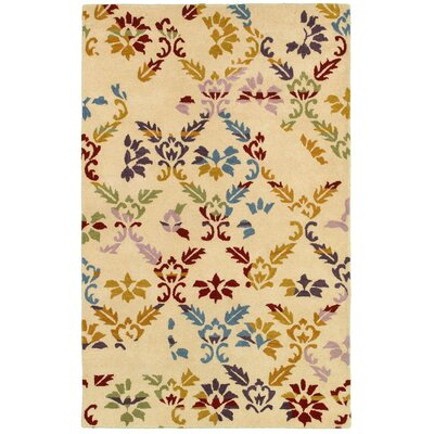Rijeka Hand-Tufted Beige Area Rug Rug Size: Rectangle 5 x 8