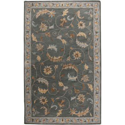 Croatia Hand-Tufted Blue Area Rug Rug Size: 9 x 12