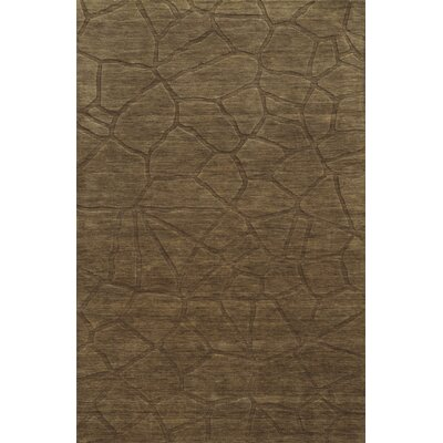 Gjin Hand-Loomed Brown Area Rug Rug Size: 5 x 8