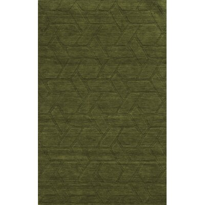 Trieste Hand-Loomed Green Area Rug Rug Size: 5 x 8