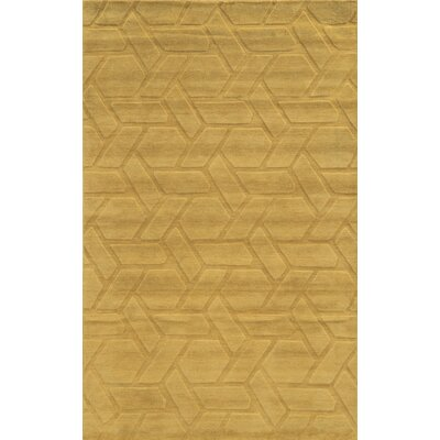 Venice Hand-Loomed Beige Area Rug Rug Size: 5 x 8