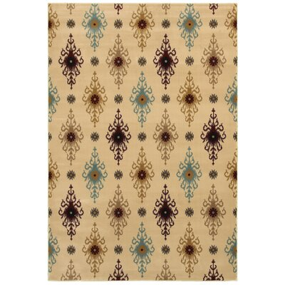 Vlore Hand-Loomed Beige Area Rug Rug Size: 5 x 8