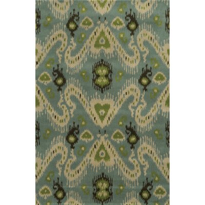 Ravenna Hand-Tufted Blue Area Rug Rug Size: Round 8