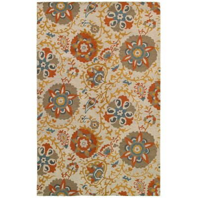 Bodrum Hand-Tufted Beige/Gray Area Rug Rug Size: Rectangle 9' x 12'