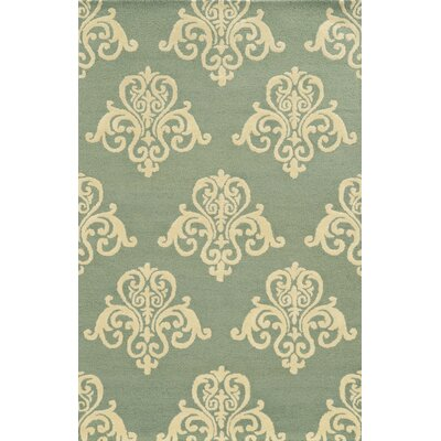 Chios Hand-Tufted Light Blue/Beige Area Rug Rug Size: Runner 26 x 8