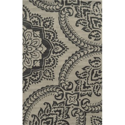 Crete Hand-Tufted Gray/Beige Area Rug Rug Size: Rectangle 5 x 8
