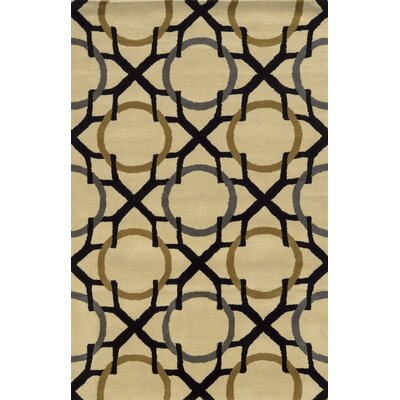 Izmir Hand-Tufted Beige/Black Area Rug Rug Size: Rectangle 3 x 5
