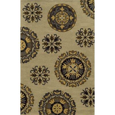 Kavala Hand-Tufted Beige Area Rug Rug Size: 2' x 3'
