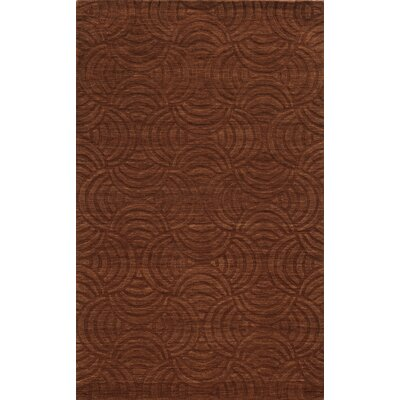 Rhodes Hand-Loomed Rust Area Rug Rug Size: Runner 26 x 8