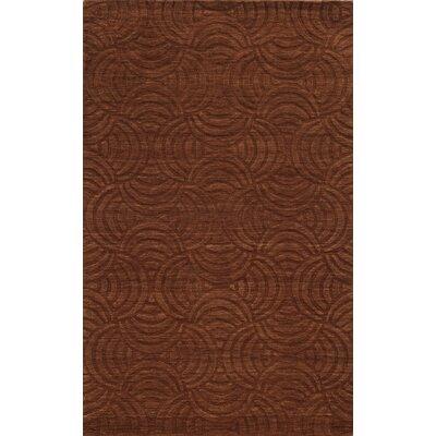 Rhodes Hand-Loomed Rust Area Rug Rug Size: 5 x 8