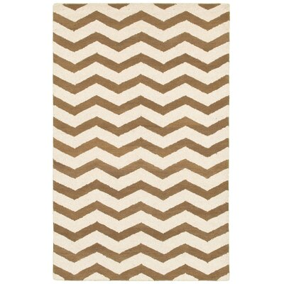 Berdiansk Hand-Tufted Brown/Beige Area Rug Rug Size: 2 x 3