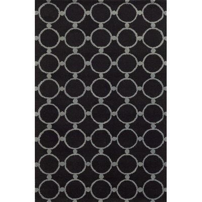 Ukraine Hand-Tufted Black Area Rug Rug Size: Runner 26 x 8