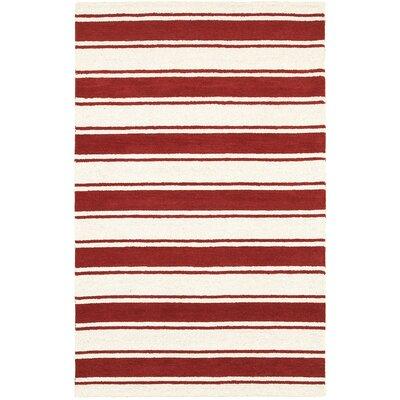 Burela Hand-Tufted Red/Ivory Area Rug Rug Size: Rectangle 3 x 5