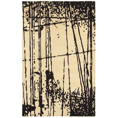 Brest Hand-Tufted Black/Beige Area Rug Rug Size: Rectangle 3 x 5