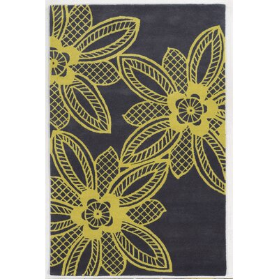 Erdemir Hand-Tufted Light Gold/Gray Area Rug Rug Size: 5 x 8