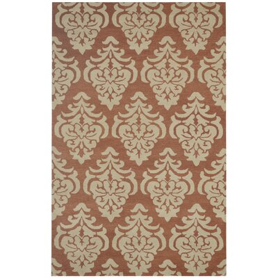 Yuzhny Hand-Tufted Rust/Beige Area Rug Rug Size: Rectangle 5 x 8