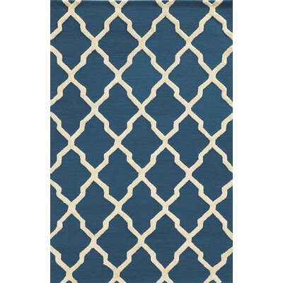 Terre Hand-Tufted Dark Blue Area Rug Rug Size: 3 x 5