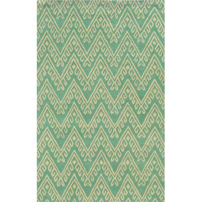 Belize Hand-Tufted Teal Area Rug Rug Size: Round 8