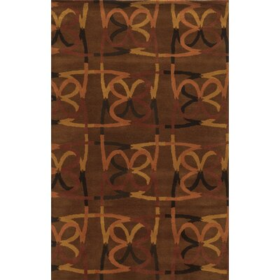 Bridgetown Hand-Tufted Espresso Area Rug Rug Size: Rectangle 8 x 10