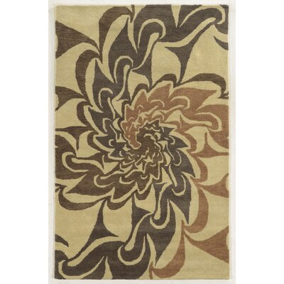 Cabo Hand-Tufted Gray/Beige Area Rug Rug Size: 5 x 8