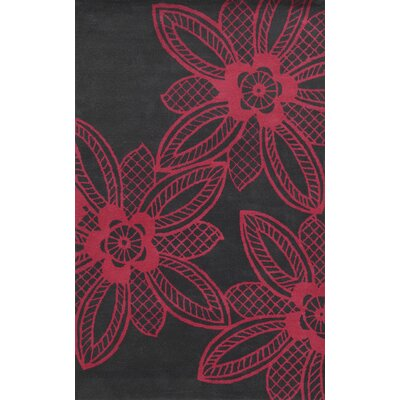 Martinique Hand-Tufted Pink/Gray Area Rug Rug Size: 5 x 8