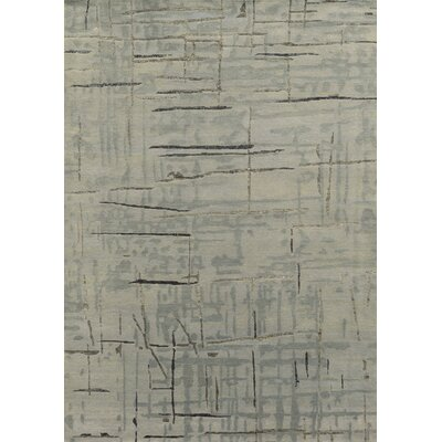 Hand-Knotted Light Gray Area Rug Rug Size: Rectangle 36 x 56