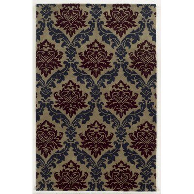 Aruba Hand-Tufted Blue/Purple Area Rug Rug Size: Round 8