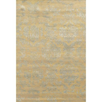 Prince Hand-Knotted Beige/Gray Area Rug Rug Size: Rectangle 36 x 56