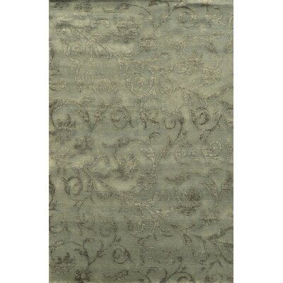 Trinidad Hand-Knotted Grey Area Rug Rug Size: Rectangle 36 x 56