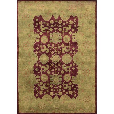 Castilla Hand-Knotted Purple/Green Area Rug Rug Size: Runner 26 x 8