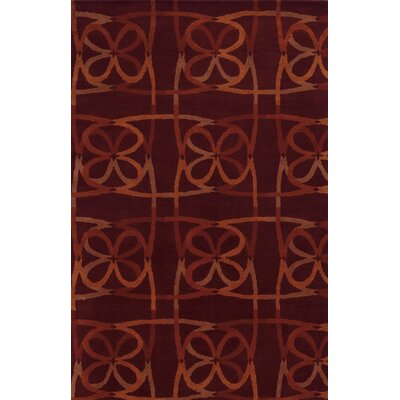 Ouistreham Hand-Tufted Brown Area Rug Rug Size: 9 x 12